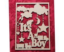In legno MDF in legno Baby Memoria Ricordo Scatola topper Baby Boy Craft Parete Porta ha.
