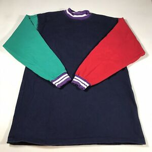 B31 Vintage Color Block Long Sleeve Tee TShirt Size M/L Cross Creek 90's