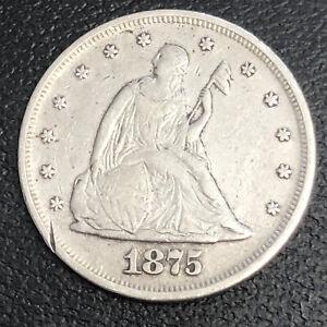 1875 P Twenty Cent Piece 20c Philadelphia RARE Silver High Grade VF - XF #34002