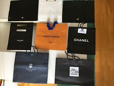 Lot of 8 Gift Shopping Bags Louis Vuitton,Chanel,Saks 5th Ave,Tincati,St.Laurent