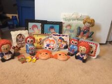 Huge Lot of Vintage Raggedy Ann and Andy Collectibles