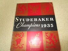 Studebaker Champions 1935  Dealer Brochure