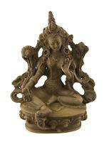 Estatua Tibetano De Verde Tara Verde De Resina Beige Bodhisattva 11CM 25952