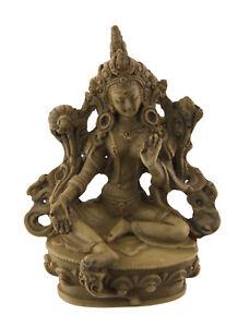 -statue der Tibetische Grün Tara Grüner IN Harz Beige Bodhisattva 11 CM 25952