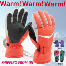 Men Winter Gloves Warm Fleece Lined Waterproof Outdoor Sport Driving Cycling