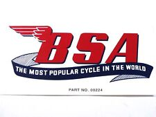 BSA large Decal The most popular cycle in the world