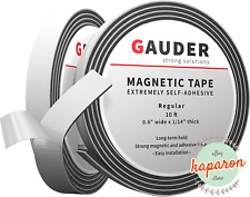 Magnetic Strips Tape Flexible Roll Adhesive Back Magnet Strong Sticky Long Lasti