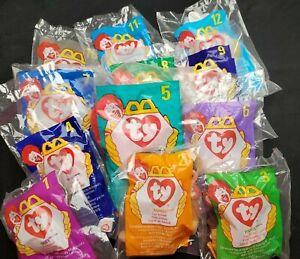 McDonald's Ty Teenie Beanie Babies, Full Set 1-12, New Sealed in Packaging 1998