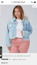Lane Bryant Sexy Re Made in LA Denim Jacket Plus size 26 msrp $130
