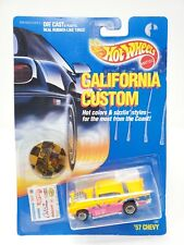 Hot Wheels California Custom 1957 Chevy Orange Neon Real Riders 1/64 NEW