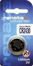 1 x Renata CR2430 Watch Batteries, Lithium, Swiss Made , 2430