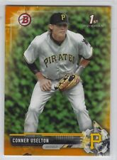 CONNER USELTON 2017 Bowman Draft ORANGE Parallel RC /25 Pirates non-auto