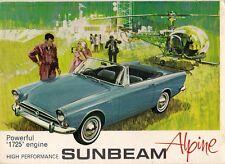 Sunbeam Alpine Series V 1725cc 1965-68 UK Market Sales Brochure Tourer GT
