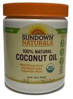 Sundown Naturals Organic Coconut Oil  16oz