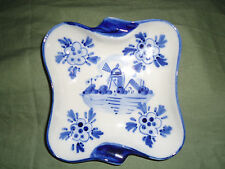Delfts Blue Holland #66, Hand Painted Ashtray, #961