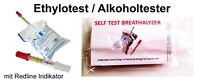 2x Einweg Alkoholtester Alkohol Ethylotest Testgerät NF-Zertifiziert Frankreich