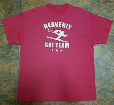Heavenly Ski Team Tee Shirt Men's XL Red and White Worn 1 Time
