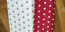 POLKA DOT PRINTED WOVEN LINEN FABRIC - SOLD BY 1/2MTR