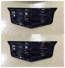 2Pcs For Black Metal Cadillac Emblem Badge Decal Sticker CTS ATS XLR CT6 SRX SLS