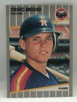 1989 Fleer Craig Biggio #353 Rookie Card RC Houston Astros NM-MT Near Mint HOF