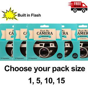 Disposable Single Use Camera - 27 Exposures & Flash! Multipack, UK Seller ✅