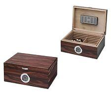 Visol Brawley Macassar Finish 75 Cigar Humidor Built in Digital Hygrometer