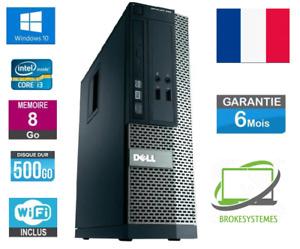 PC de bureau Dell Optiplex SFF 390 I3 3,10Ghz 8Go Ram HDD 500Go Windows 10