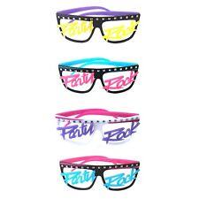 Men's Para Mujer Novedad 80s Lmfao Party Rock brillan en la oscuridad sin lentes Gafas