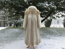 Beautiful Vintage Canadian Coyote Full Length Fur Coat ~ Doctor Zhivago ~ Narnia