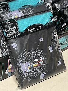 """NEW Nightmare Before Christmas Jack Skellington & Sally Tablecloth  - 70"""" Round"""