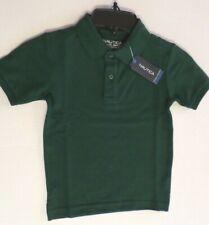 Nautica Boys Polo School Uniform Shirt Cotton Blend Hunter Green Size S/C 4