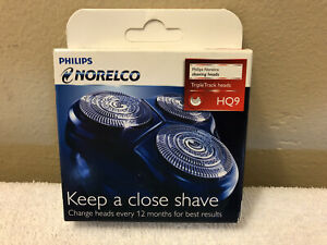 Philips Norelco HQ9|52 Triple Track Replacement Shaving Heads Sealed New