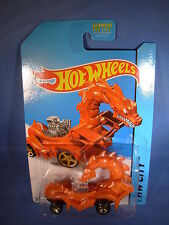 GODZILLA RODZILLA Hot Wheels HW City ORANGE Medieval Ride USA 2014/ Godzilla