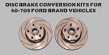 New slotted brake rotor set for Disc Brake 65-67 Mustang, Falcon, Fairlane