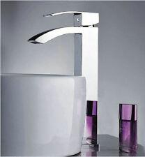 Modern Brass Chrome Mixer Tap Waterfall Kitchen Bathroom Basin Sink Faucet Holes