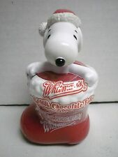 Whitman's Whitmans Candies Peanuts Snoopy in a Red Christmas Stocking Figurine
