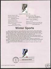 #3180 WINTER SPORTS ALPINE SKIING 1998 Official Souvenir Page