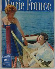 Gérard Philipe Revue Marie France Aout 1957