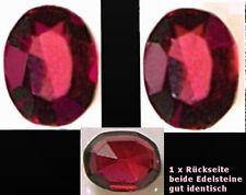 Zwei alexandritrote Rhodolithe (Naturedelsteine-Edelgranate)=Antikschliff=2.28ct