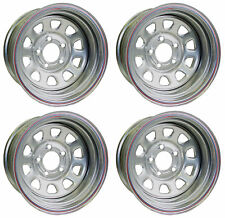 """NEW 15x8/"""" ALLIED RACING WHEEL SET,SILVER,5 X 5/"""",BS 5/"""",CHEVY,BUICK,OLDS,GMC"""