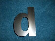 Buchstabe Edelstahl Metall V2A 10 x 7 cm 'd' d für Hausnummer etc.