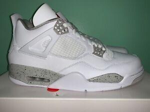 2021 Nike Air Jordan Retro 4 White Oreo Tech Grey Men Sz 7Y-11.5 CT8527-100