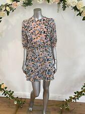 Influence Tea Dress Size 10 Pink Floral Chiffon Lined New Ruffle ET24