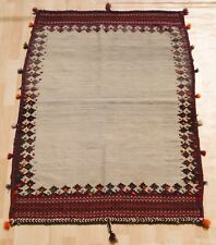 PERSIAN KILIM RUG RECTANGLE WOOL HANDMADE ROOM DESIGN DESIGNER AREA RUGS 3X5ft.