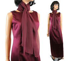 Michaelangelo Formal Gown 8 M Long Sleeveless Burgundy Red Prom Dress Scarf Set