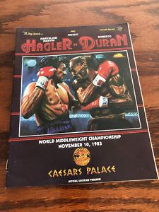 VERY RARE ORIGINAL 1983 Marvin Hagler vs Roberto Duran BOXING PROGRAM