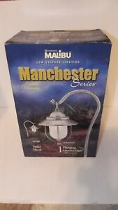 Malibu CM140P Low Voltage 18-Watt Metal Lantern Walk Light Brushed Silver Finish