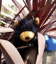 GANZ WEBKINZ SOFT STUFFED ANIMAL PET- BLACK BEAR - W/SEALED CODE TAG - REG SZE