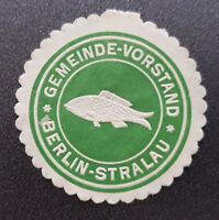 Siegelmarke Vignette Gemeinde-Vorstand Berlin-Stralau (8186-1)