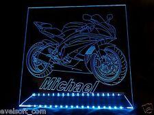 LED faunz ENSEIGNE LUMINEUSE autonome, Led Moto + Ihren nom Souhaité